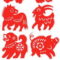 18_90354_1014, Chinese Animals paper cut -