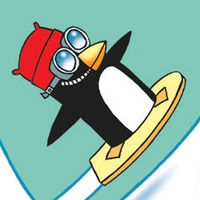 34_90171_1013, Snow-board Penguin -