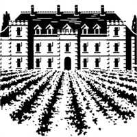 34_90176_1001, French Chateau woodcut -