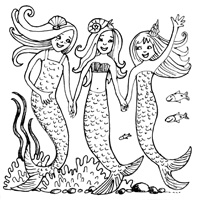 34_90182_1016, mermaid party -