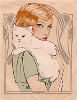 3_90281_1044, Lady with Cat -