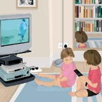 5_23300_007, children watching TV -